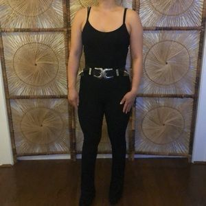 Sexy fitted flared leg jumpsuit